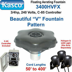 Kasco Marine 3400hvfx050 Floating Aerating Fountain 3/4hp 240 Volts 50and039 Cord