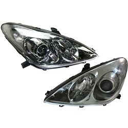 Headlight Set For 2005-2006 Lexus Es330 Left And Right Hid 2pc