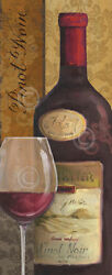 WINE ART PRINT - From the Cellar II by Lisa Audit  42x18 Bar Restaraunt Poster