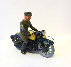 lead toy soldier die cast aaa motorcycle