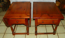Pair Of Mid Century Mersman Pine End Tables / Side Tables T517