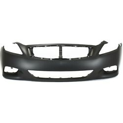 Front Bumper Cover For 2008-2013 Infiniti G37 Convertible/coupe Primed Plastic
