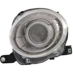 Headlight For 2012-2015 2016 2017 2018 Fiat 500 Hatchback Left With Bulb