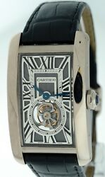 Cartier Tank Americaine Flying Tourbillon RARE LIMITED 18k White Gold watch.