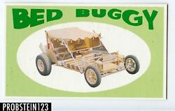 1970 Topps Way Out Wheels Bed Buggy Color Proof Card -