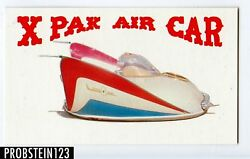 1970 Topps Way Out Wheels X Pak Air Car Proof Card -