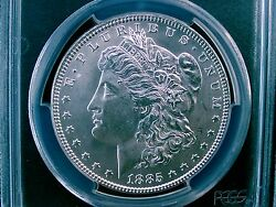 1885 Morgan Silver Dollar Pcgs Mint State 63 131 Yrs Old Part Of U.s. History