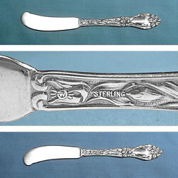 Frank Whiting Sterling Flat Handle Butter Spreaders Lily / Floral No Mono