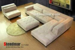4pc Modern Microfiber Sectional Sofa S4708m Custom Made Options Available