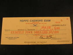 1965 Topps Baseball Card Contract Check R Cleveland