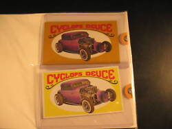 1970 Topps Way Out Wheels 2 Proof Card Set 26