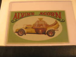 1970 Topps Way Out Wheels Original Proof Alvin's Acorn