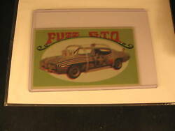 1970 Topps Way Out Wheels Original Proof Fuzz G.t.o.
