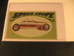 1970 Topps Way Out Wheels Original Proof Speed Coupe