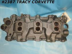 1958-1961 Chevrolet Tri Power Dated Intake Manifold 3749948 3x2 For 348w Engines