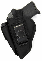 USA MADE BELT SLIDE & CLIP-ON HOLSTER WITH MAGAZINE CARRIER - Choose Your Gun!