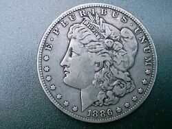 1886- O Morgan Silver Dollar Over 130 Years Old / Part Of U. S. History