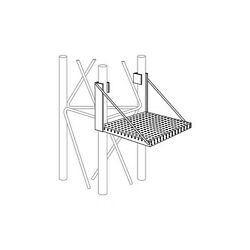 ROHN WP45G Work Platform Snap On Step Attachment for ROHN 45G Tower