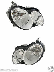 No Xenon 2 Oem Hella Left+right Headlights Headlamps Lights Lamps For Mercedes
