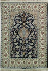 5x7 AUTHENTIC PERSIAN ESFAHAN Wool & Silk RUG SIGNED