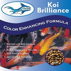 Thrive Koi Brilliance Color Enhancing High Protein Diet Fish Food - 30lbs
