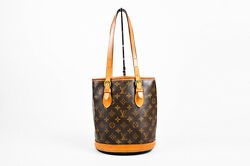 Louis Vuitton Brown Tan Coated Canvas Leather