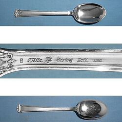 International Sterling Dessert / Oval Soup Spoons Trianon No Mono