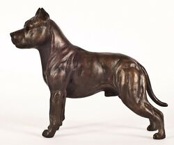 AM STAFF TERRIER (STANDINGCROPPED EARS) COLD-CAST BRONZE FIGURINE 6