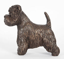WEST HIGHLAND WHITE TERRIER: COLD-CAST BRONZE  FIGURINE 4.75 INCHES LONG #63-150