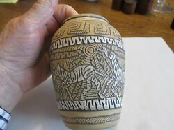 Ceramic Jar By Sculptor Jef Raasch Pottery Clay Animals Zebras - Free Shipping