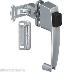 15 Pk Silver Finish Wood Or Metal Screen And Storm Door Push-button Latch N178368
