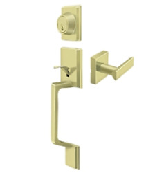 Highgate Entry Door Handleset With Zinc Livingston Lever In 4 Finishes By Fpl