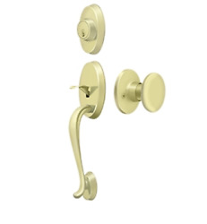 Riversdale Entry Door Handleset With Round Knob In 4 Finishes By Deltana