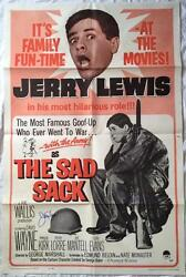 JERRY LEWIS Signed THE SAD SACK 1962 27x41 Original Poster PSADNA COA Proof Pic