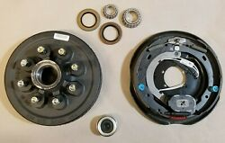 Replace Left Trailer Brake Dexter 8x6.5 Drums 9/16 Nuts 7000 12 Backing Plate