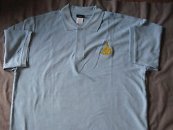 Past Master Mens Polo Shirt Embroidered Freemasons Fraternity New