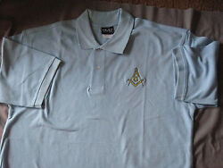 Square Compass Mens Polo Shirt Embroidered Freemasons Fraternity New