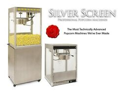 Commercial Popcorn Machine Maker And Stand Silver Screen 8 Oz Popper 11087/30087