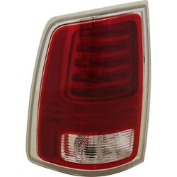 Tail Light Lamp Rear Led W/ Chrome Trim Lh Driver Side For Ram Truck Pickup New