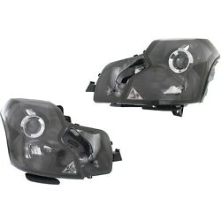 Headlight Set For 2003-2007 Cadillac Cts Left And Right Hid With Bulb 2pc