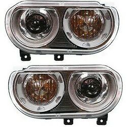 Hid Xenon Headlight Set Left And Right For 2008-2014 Dodge Challenger