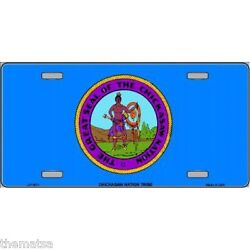CHICKASAW NATION FLAG NATIVE AMERICAN TRIBE METAL LICENSE PLATE MADE IN USA