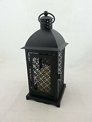 Hallmark Flameless Candle and Black Metal Decorative Lantern