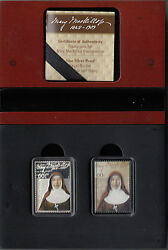 Coin 2010 Australia Mary Mackillop 1/2oz Silver Ingot And Stamp Pair Choice In Box