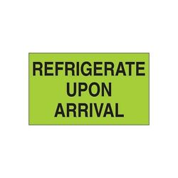 Tape Logic Climate Labels Refrigerate Upon Arrival 3x5 Fluorescent Green 500