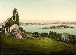 Plymouth. Plymouth From Mount Edgcumbe. Photochrome Original Dand039andeacutepoque V