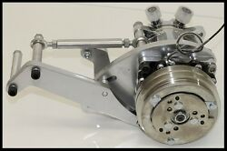 AIR CONDITIONING COMPRESSOR AND POLISHED ALUMINUM BRACKET FOR SBC CHEVY ENGINE