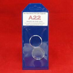 Airtite Direct Fit Coin Holder Capsules - Individual Retail Pkg Model A22 Qty 50