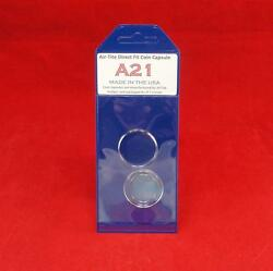 Airtite Direct Fit Coin Holder Capsules - Individual Retail Pkg Model A21 Qty 10