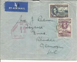 Gold Coast Sg130,126a-kumasi 26/oct/39-wwii Censor 12-air Mail To